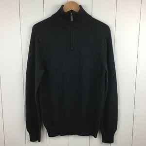 J. Crew Men's M Cotton Cashmere 1/2 Zip Sweater